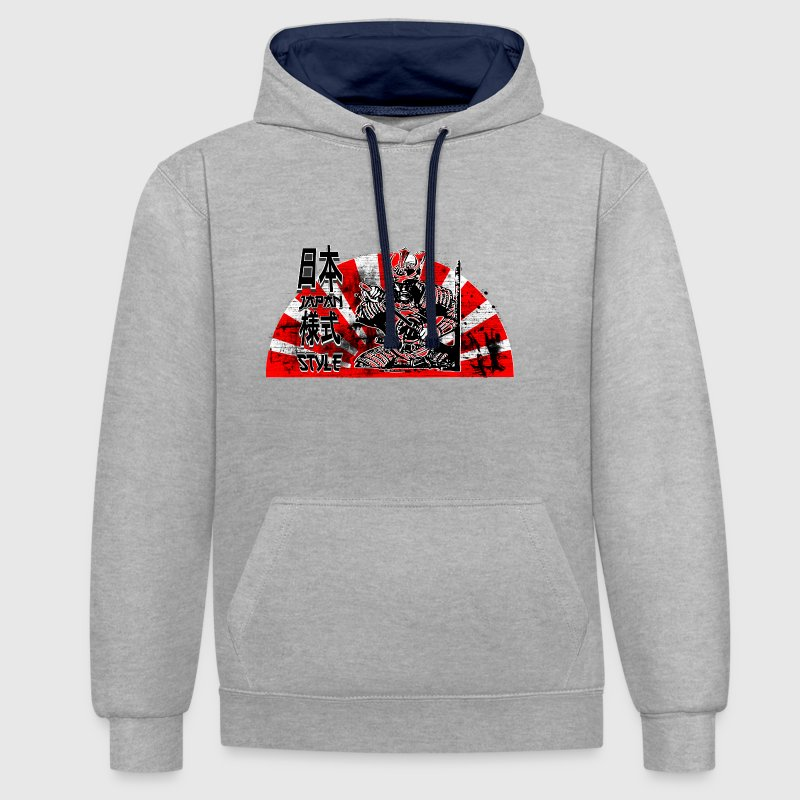 Samurai Japan Style Hoodies & Sweatshirts - Contrast Colour Hoodie