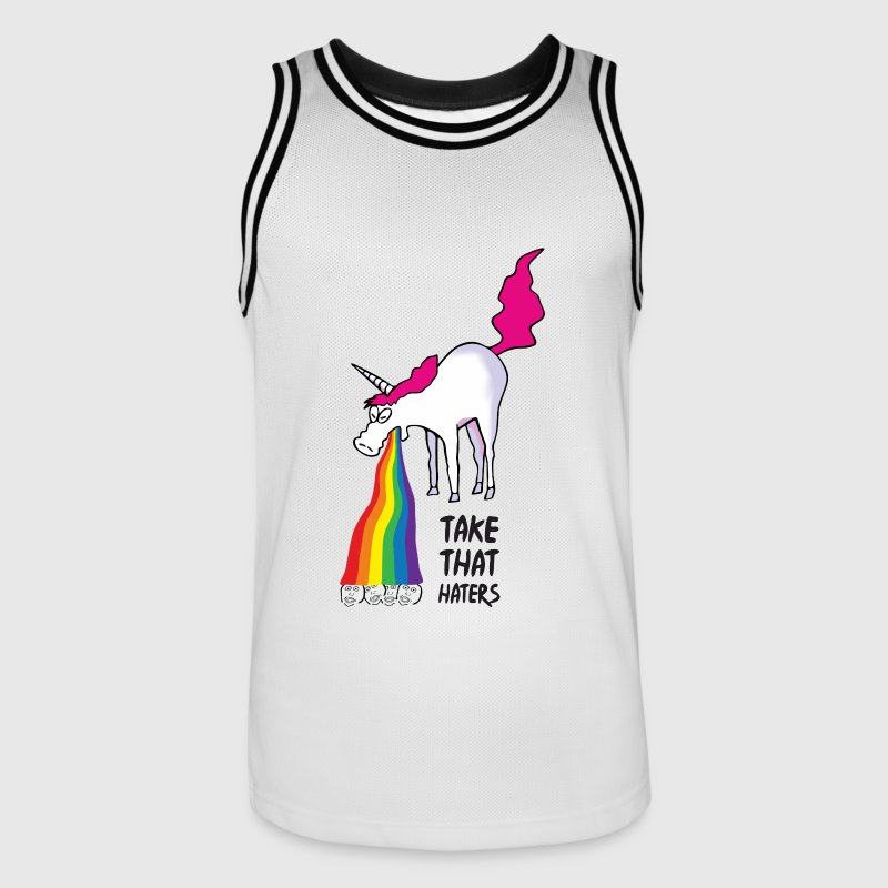 Unicorn vomiting rainbow - take that haters Sports wear - Men's Basketball Jersey