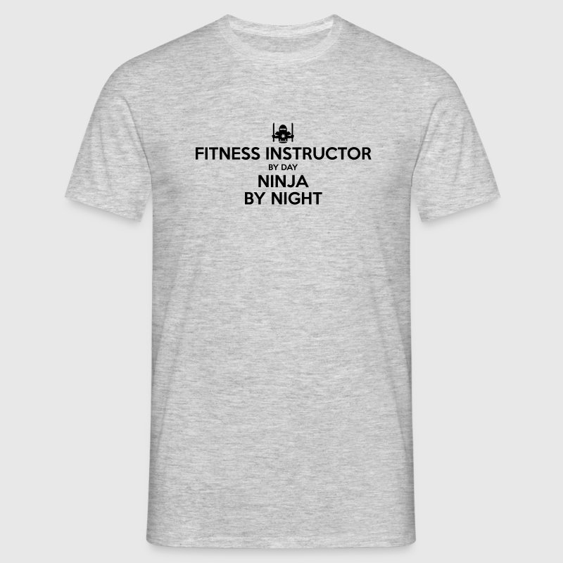 fitness instructor day ninja by night - Men's T-Shirt