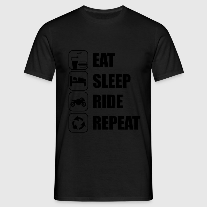 Eat,sleep,ride,repeat T-shirt moto motard - T-shirt Homme
