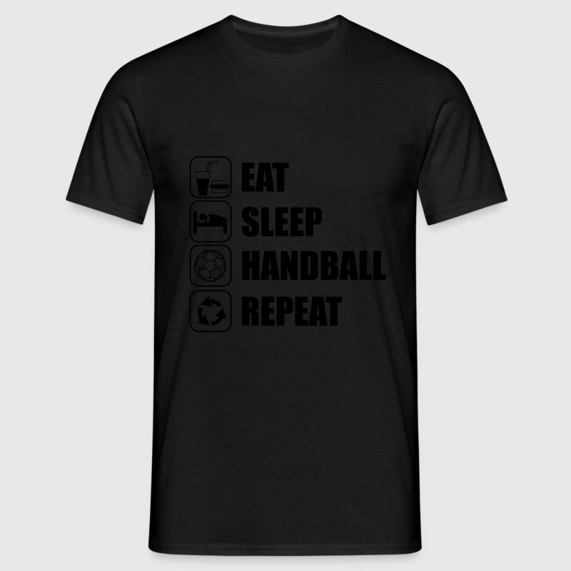 Eat,sleep,handball,repeat - Camiseta hombre