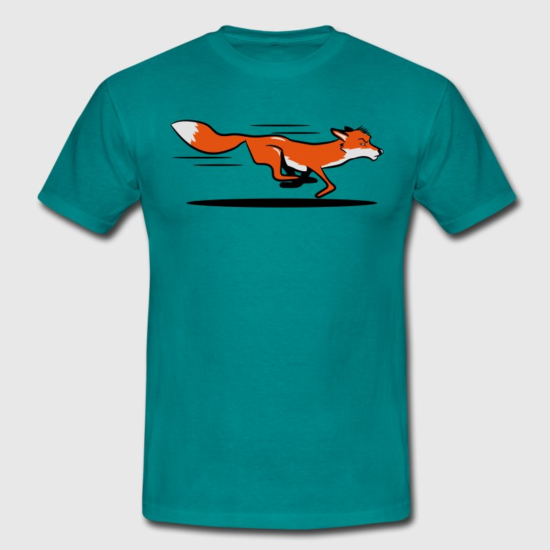 Fox running run T-Shirts - Men's T-Shirt