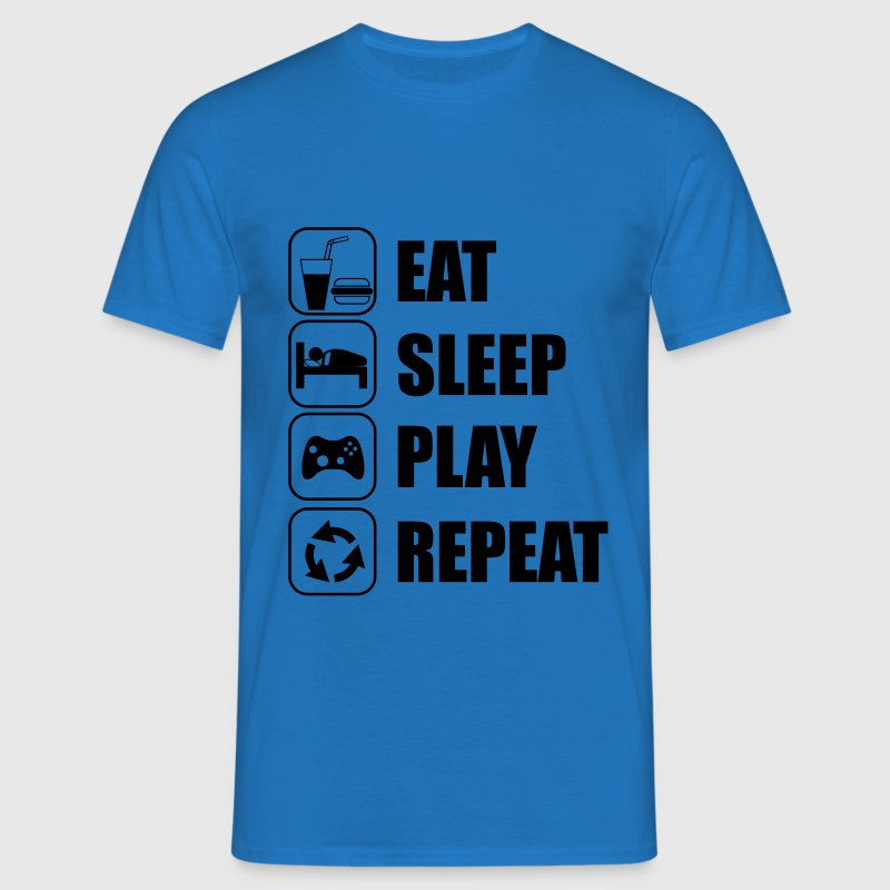 Eat,sleep,play,repeat Gamer Gaming Geek - Miesten t-paita