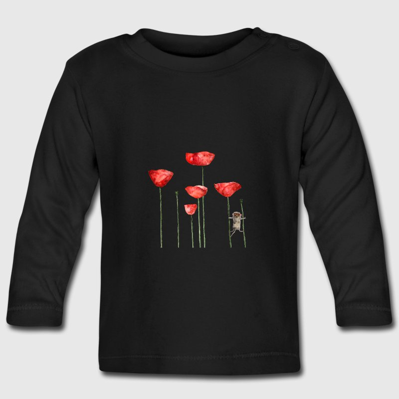 Mouse animal poppy summer funny naughty Baby Long Sleeve Shirts - Baby Long Sleeve T-Shirt