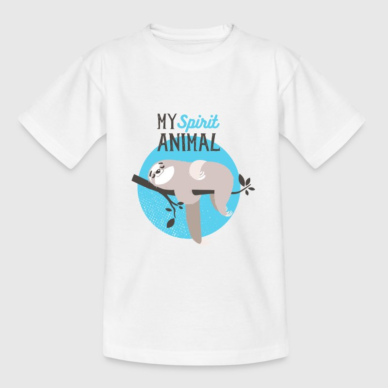 MY spirit animal- Faultier faul Tier Spaß T-Shirts - Teenager T-Shirt
