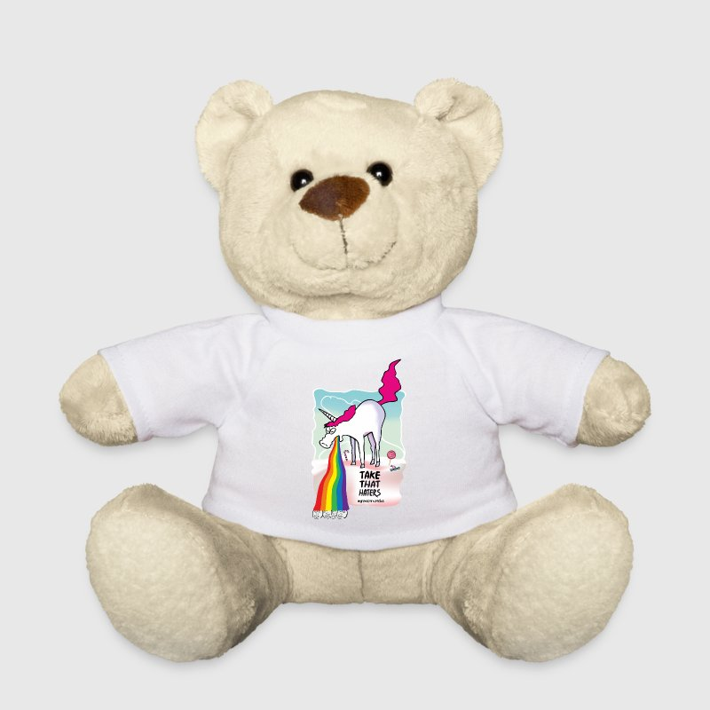 Unicorn throwing up rainbow Teddy Bear Toys - Teddy Bear