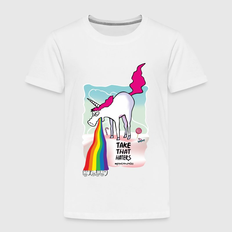 Unicorn throwing up rainbow - kotzendes Einhorn T-Shirts - Kinder Premium T-Shirt
