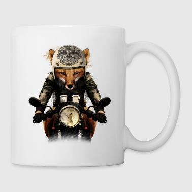 Black Fox Biker Mugs & Drinkware - Mug