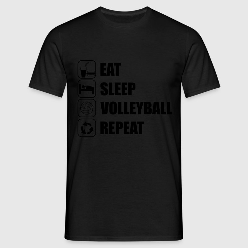 Eat sleep,play,volleyball repeat Volley T-shirt  - Men's T-Shirt