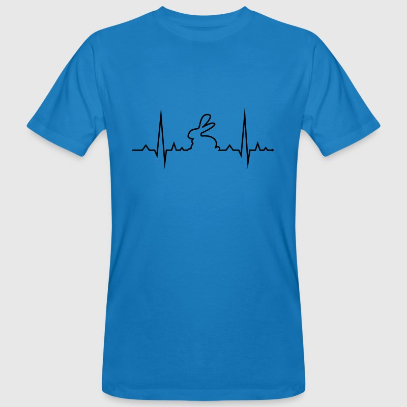 bunny rabbit heartbeat ECG cony hare love T-Shirts - Men's Organic T-shirt