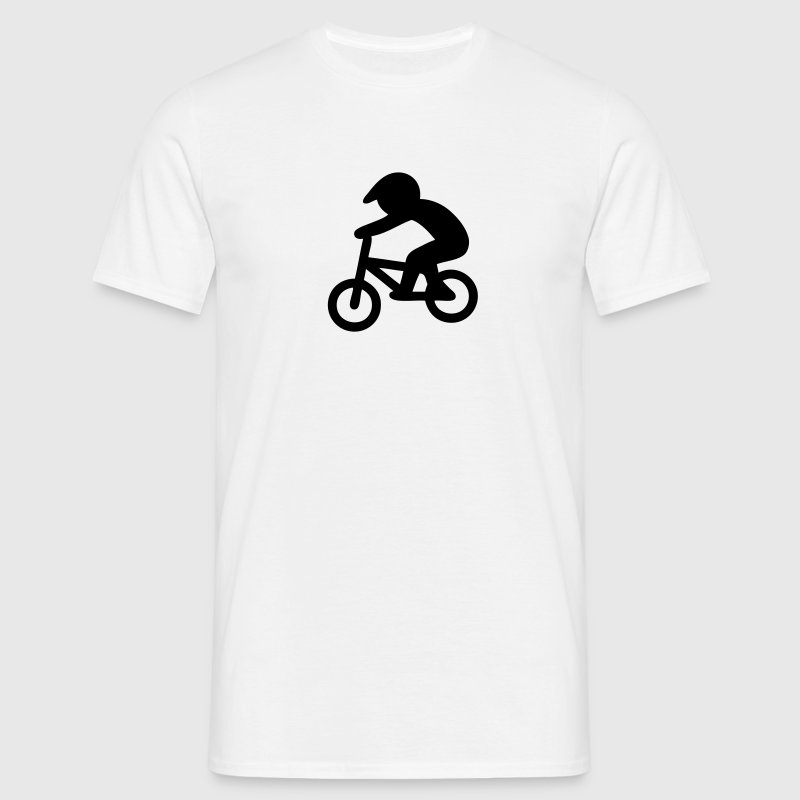BMX Bike Rider Stickfigure T-Shirts - Men's T-Shirt