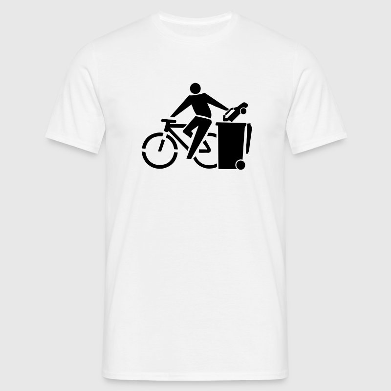 Eco-Friendly Bike Riding Stickfigure T-Shirts - Men's T-Shirt
