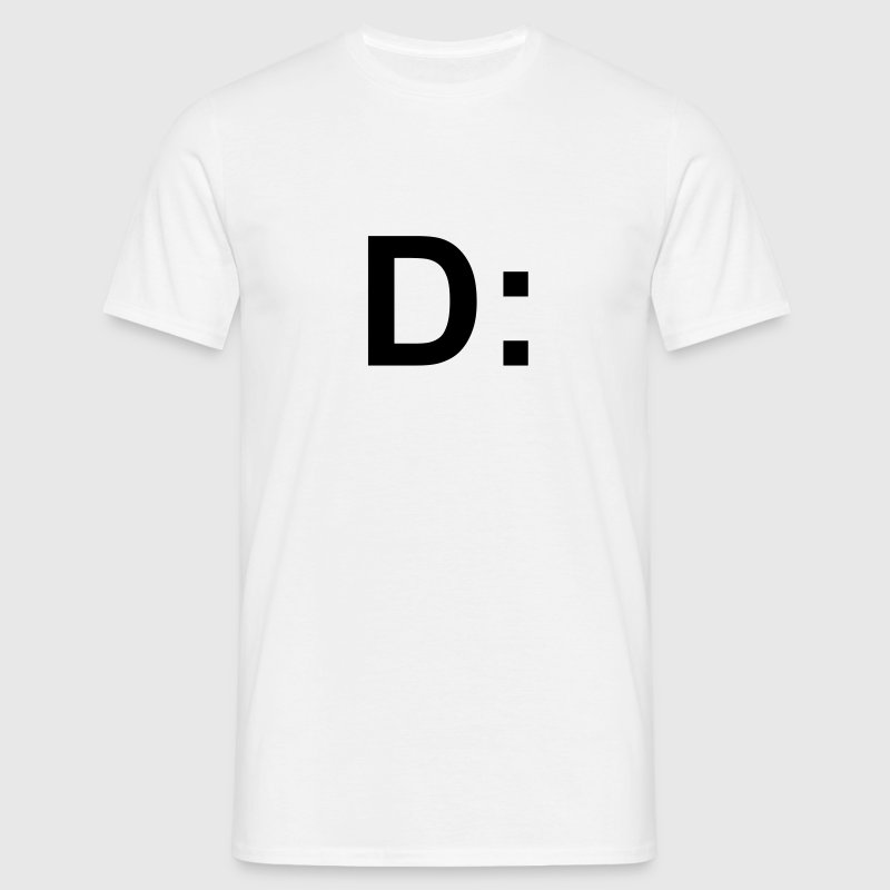 D: face T-Shirts - Men's T-Shirt