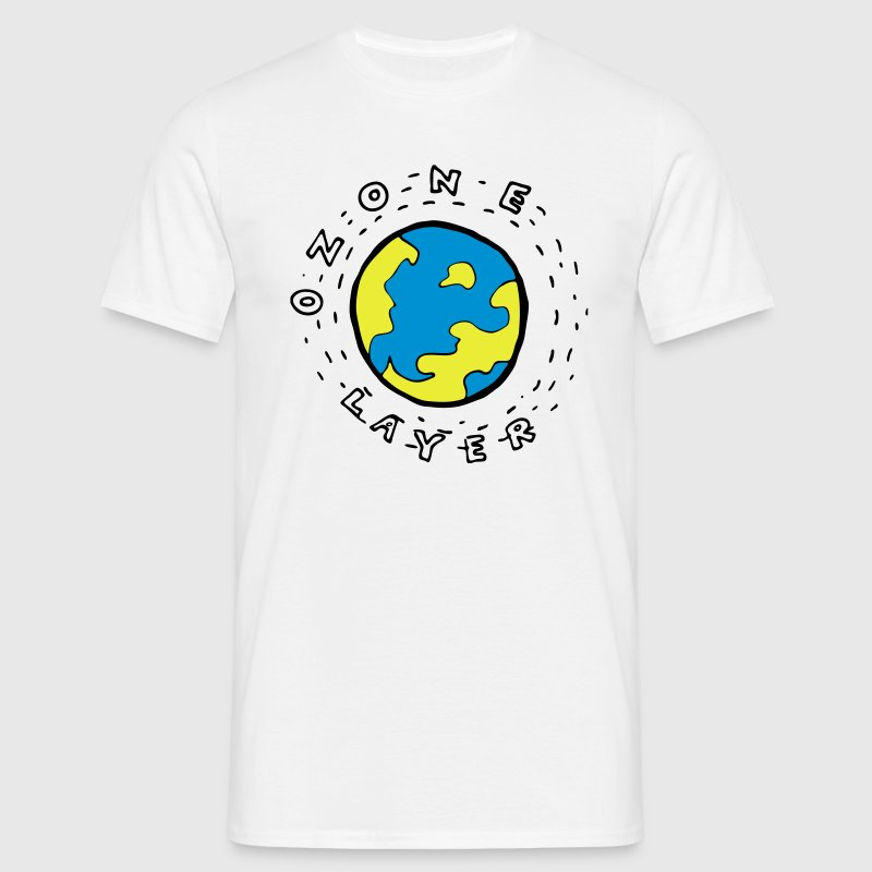 Earth's Ozone Layer Drawing T-Shirts - Men's T-Shirt
