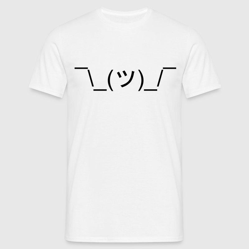 Funny Shrug Meme Text ¯\_(ツ)_/¯ T-Shirts - Men's T-Shirt