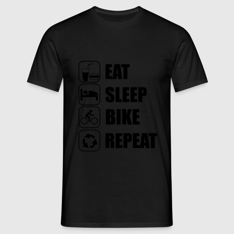 Eat,sleep,bike,repeat Cykling T-shirt - Herre-T-shirt