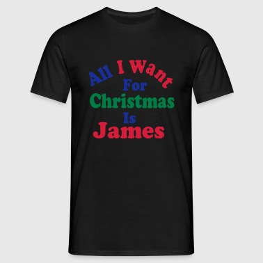 ↷♥All I want for Christmas is James Hoodie♥ - Men's T-Shirt
