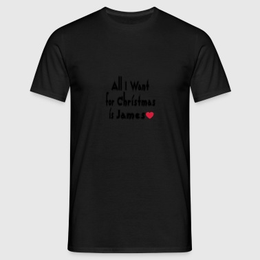 ↷♥All I want for Christmas is James Tote Bag - Men's T-Shirt