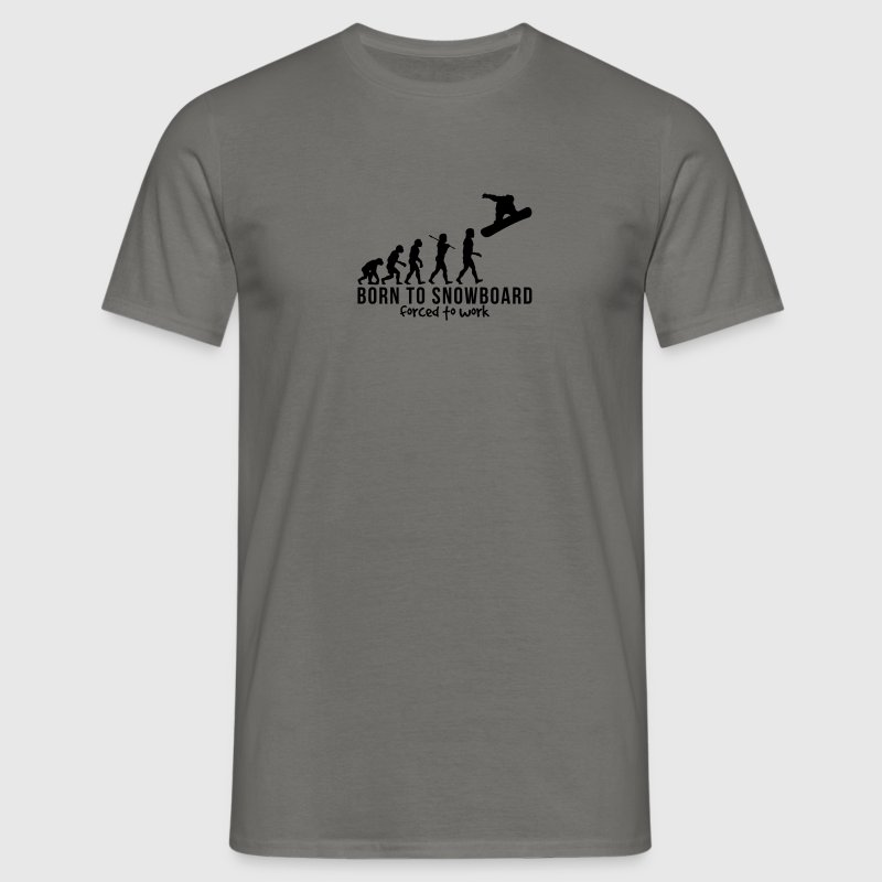 snowboarding evolution born to snowboard - Men's T-Shirt