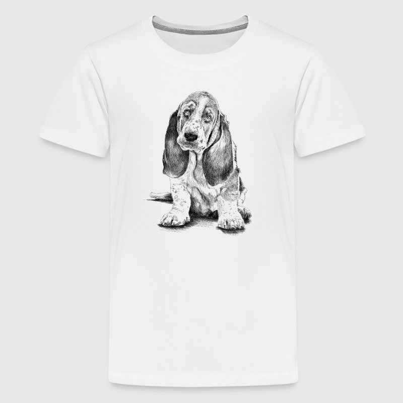 Basset-Hound T-shirts - Teenager premium T-shirt