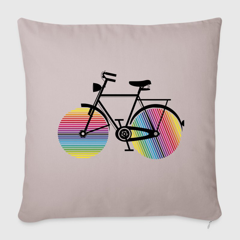 Bicycle with rainbow wheels Other - Sofa pillow cover 44 x 44 cm
