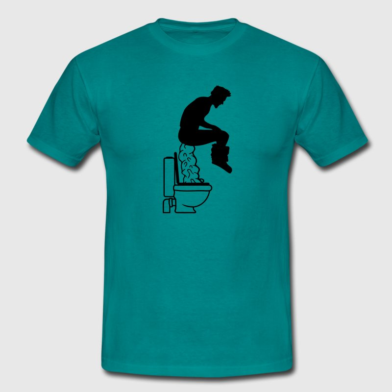 Toilet toilet giant big shit toilet funny brown sa T-Shirts - Men's T-Shirt