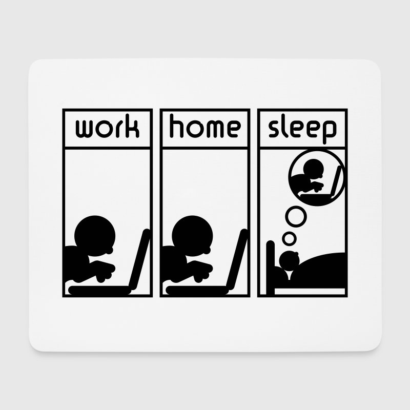Computerfreak (work - home - sleep) Mousepad - Mousepad (Querformat)