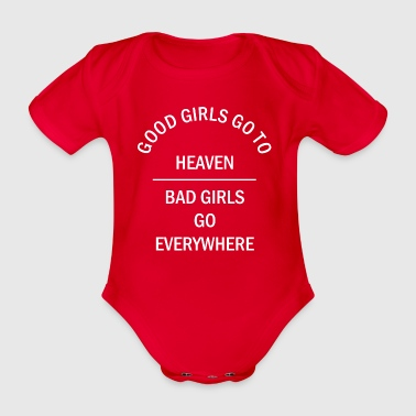 GOOD GIRLS GO TO HEAVEN Shirts - Baby bio-rompertje met korte mouwen