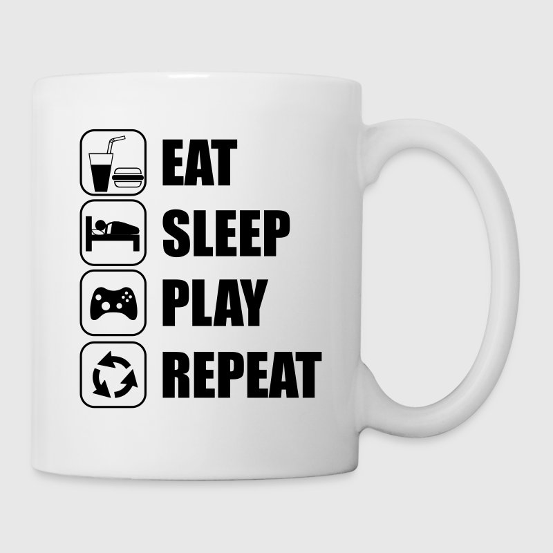 Eat,sleep,play,repeat Gamer Gaming Nerd geek - Taza