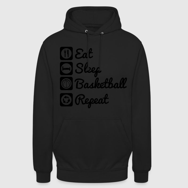 Eat sleep basketball,Basket Sweat-shirts - Sweat-shirt à capuche unisexe