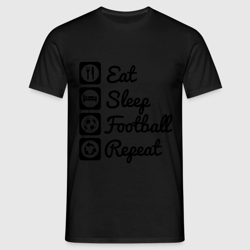 Eat,sleep,football,repeat - Football shirt soccer - Men's T-Shirt
