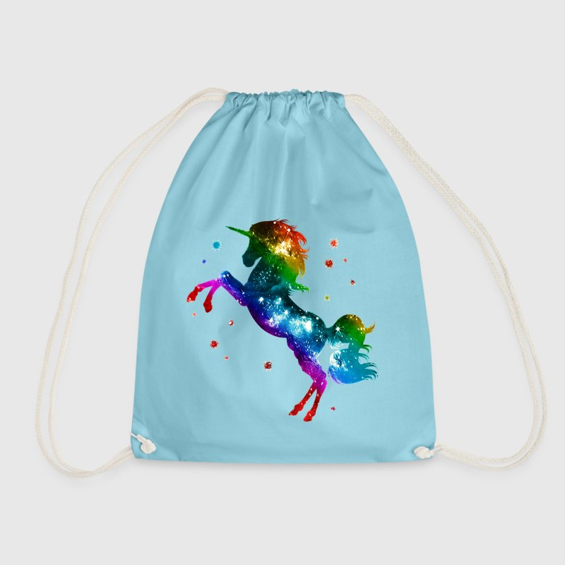 Unicorn rainbow, galaxy, space, gay, fantasy Bags  - Drawstring Bag