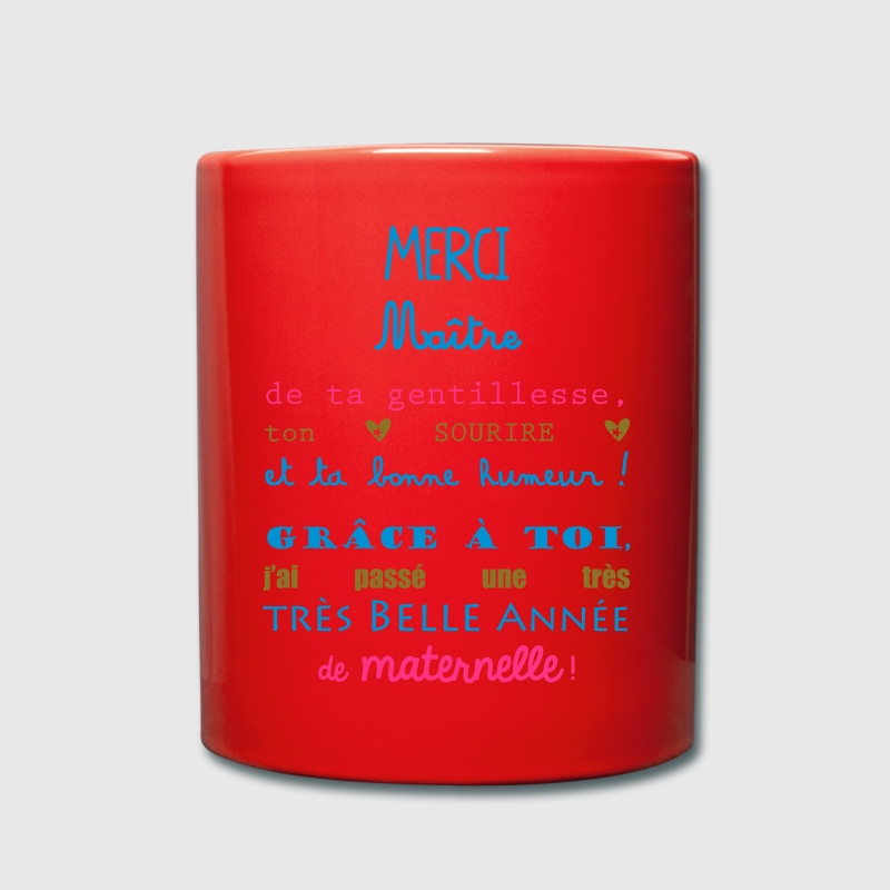 Tasse merci maitre maternelle cole spreadshirt - Code promo private sport shop frais de port ...