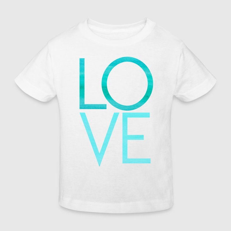 LOVE - Liebe Text Schrift Motivation T-Shirts - Kinder Bio-T-Shirt