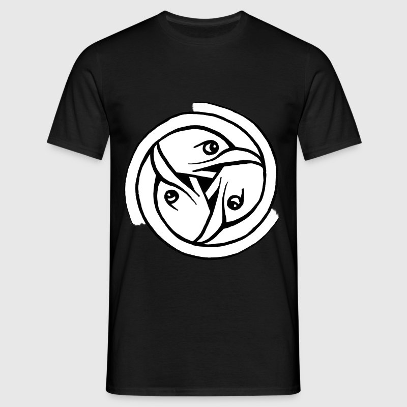Bird Head Triskele - Celtic / Pictish Art - Men's T-Shirt