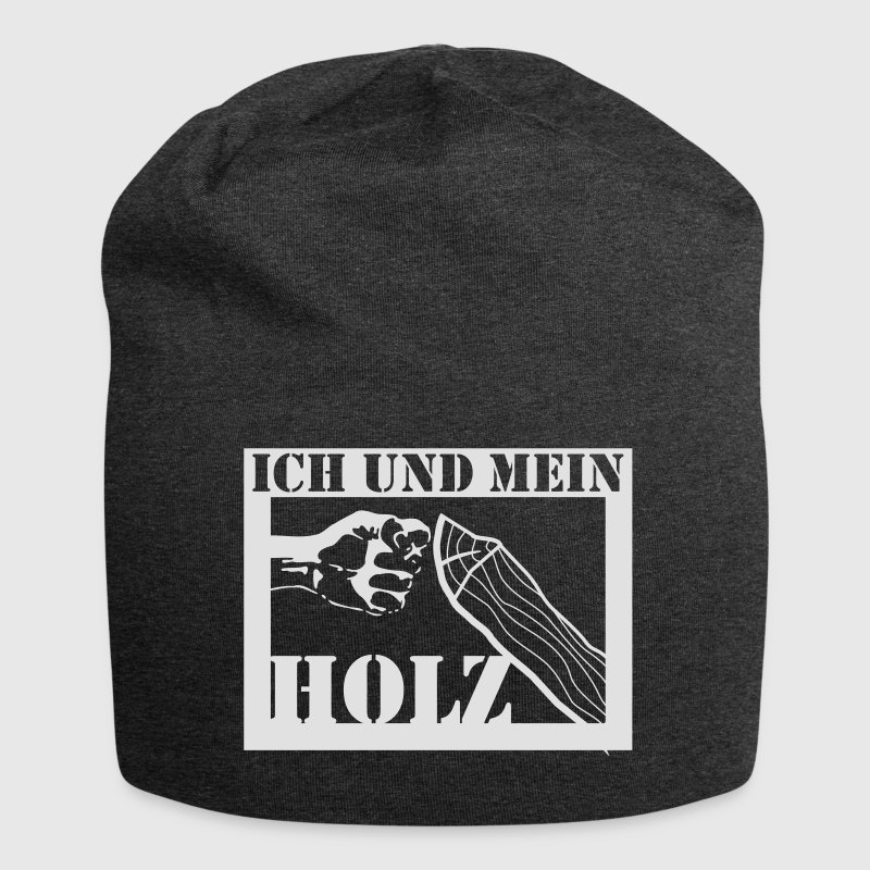 ich und mein holz jersey beanie spreadshirt. Black Bedroom Furniture Sets. Home Design Ideas