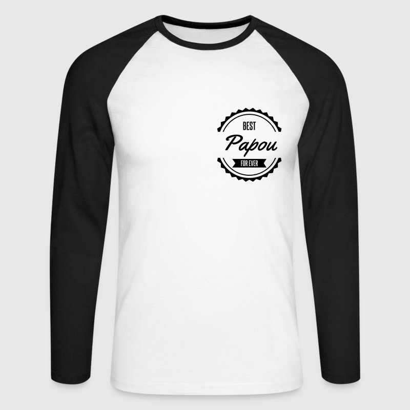 best papou papa father παππούς Manches longues - T-shirt baseball manches longues Homme