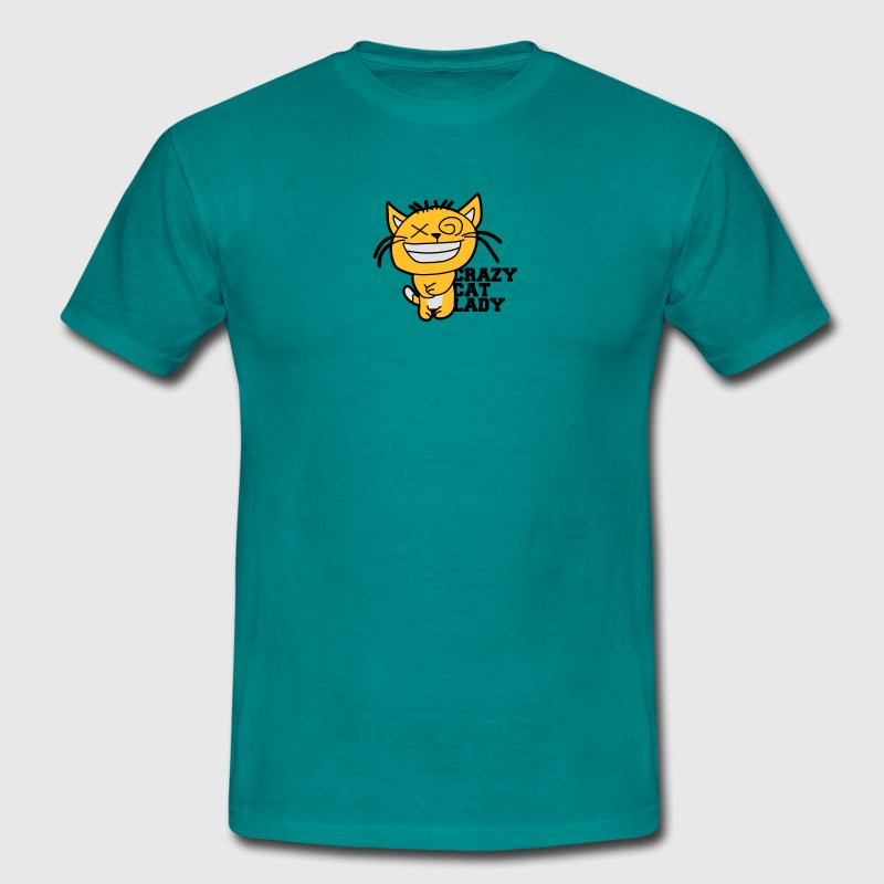 chats chat fou amour dame animaux fou d'amour chat Tee shirts - T-shirt Homme