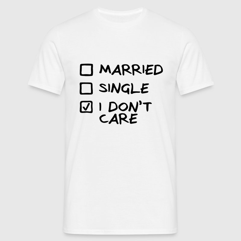 T-shirt Homme I don't care - T-shirt Homme