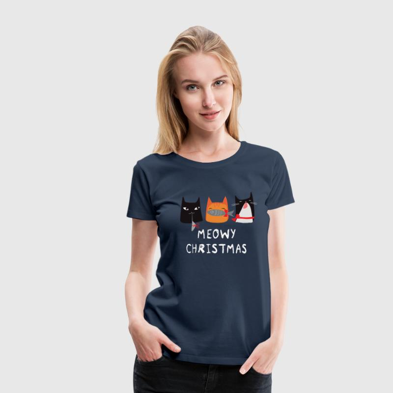 Meowy Christmas Cats T-Shirts - Frauen Premium T-Shirt