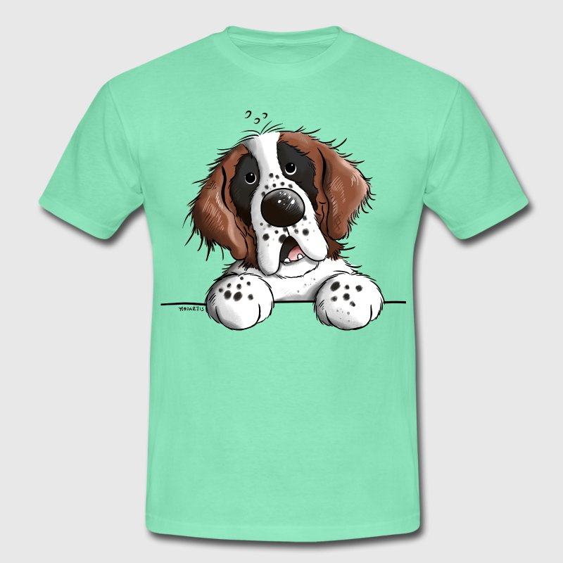 Happy Saint Bernard T-Shirts - Men's T-Shirt
