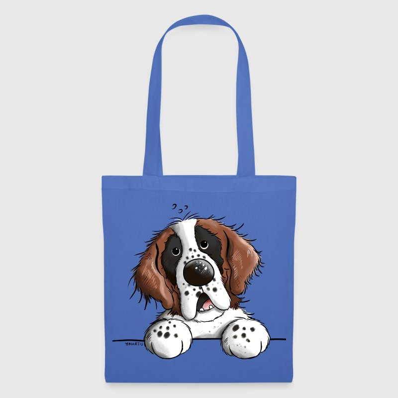 Happy Saint Bernard Bags & Backpacks - Tote Bag