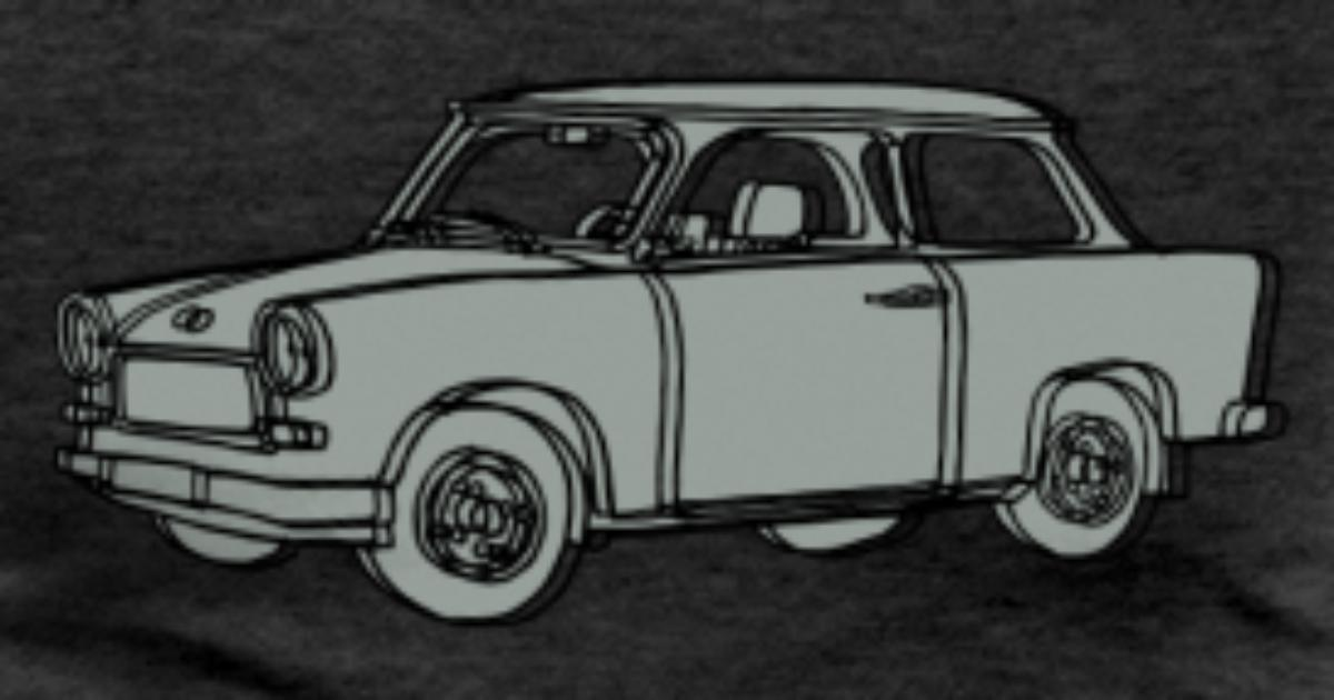 tee shirt voiture trabant 2 spreadshirt. Black Bedroom Furniture Sets. Home Design Ideas