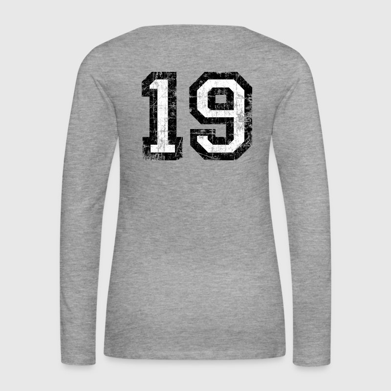 Number 19 number nineteen 19th birthday nineteenth Long Sleeve Shirts - Women's Premium Longsleeve Shirt