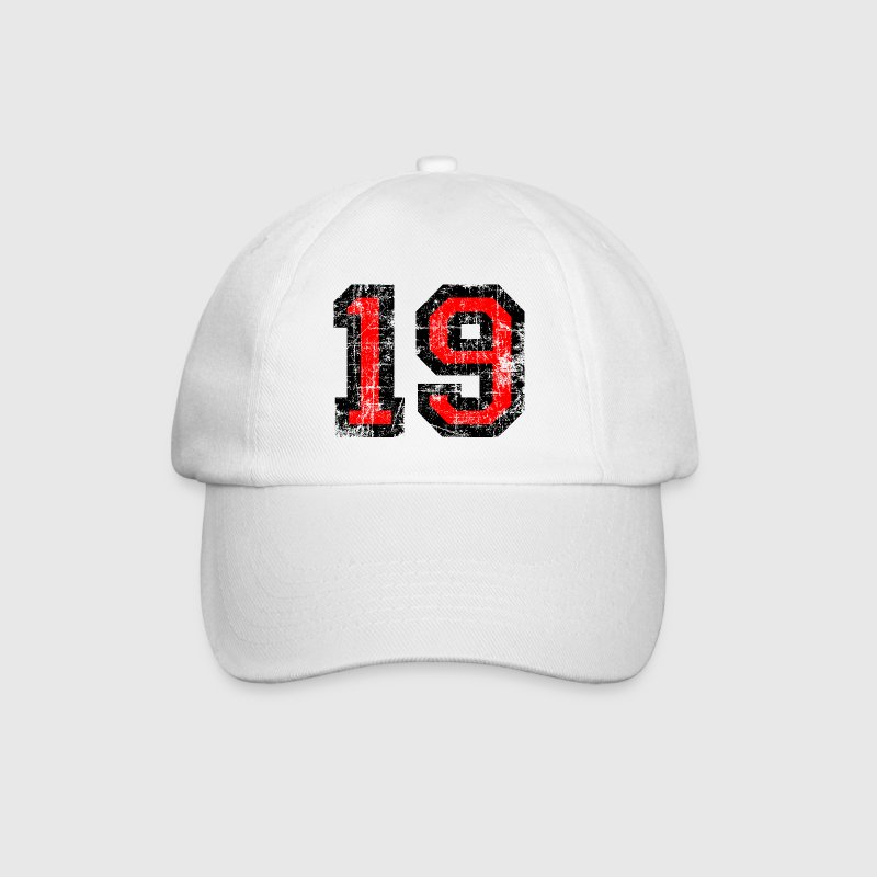 Number 19 number nineteen 19th birthday nineteenth Caps & Hats - Baseball Cap
