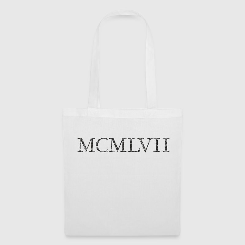 MCMLXVII born 1957 Roman birthday year Bags & Backpacks - Tote Bag