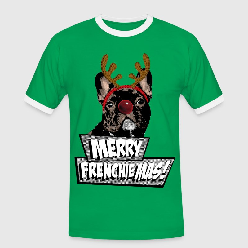 AD Merry FrenchieMas! T-skjorter - Kontrast-T-skjorte for menn