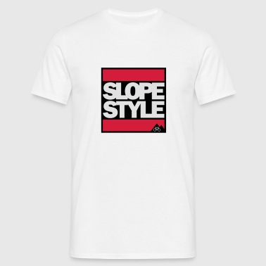 Slopestyle Button - Männer T-Shirt