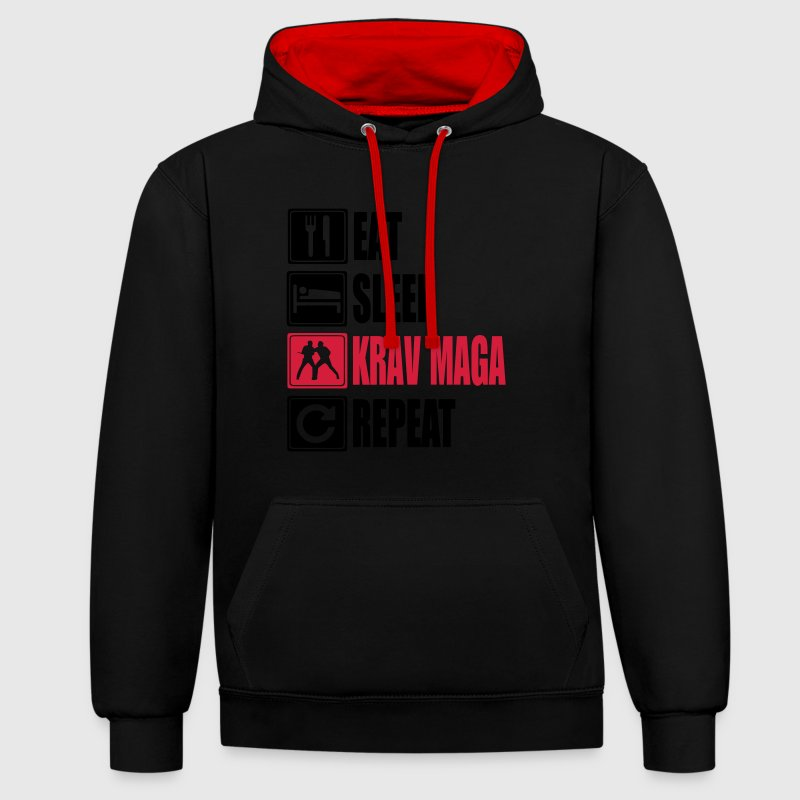 Eat-Sleep-KravMaga-Repeat Pullover & Hoodies - Kontrast-Hoodie