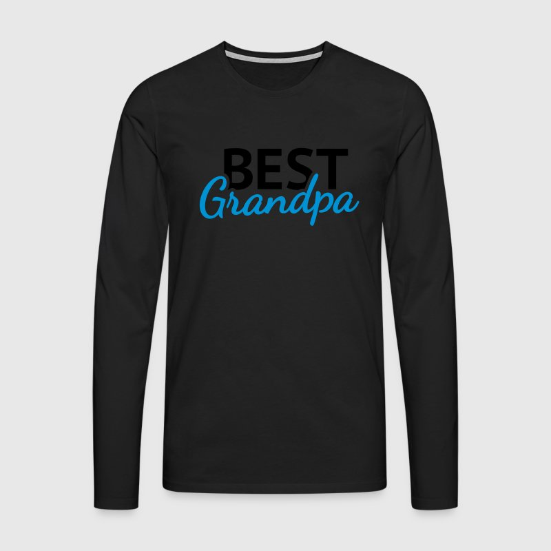 Best Grandpa Long sleeve shirts - Men's Premium Longsleeve Shirt